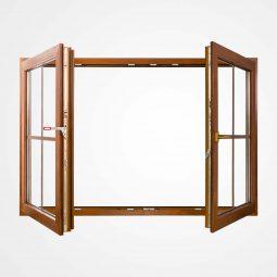 پنجره دو لنگه بازشو با وادار متحرک (French Window)